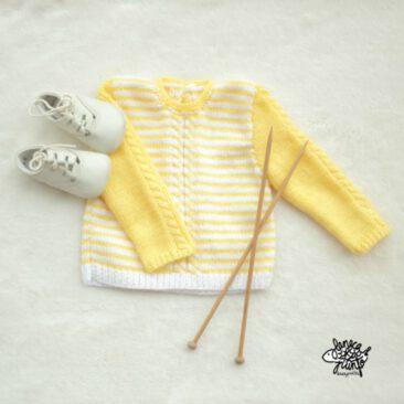 Jersey de rayas amarillas y blancas.