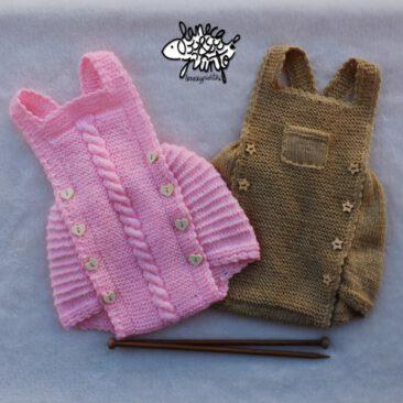 Pack de ranitas rosa y marón.