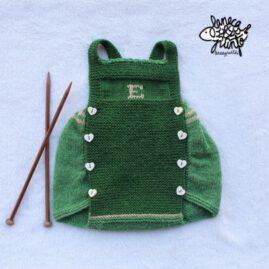 Ranita verde con inicial.